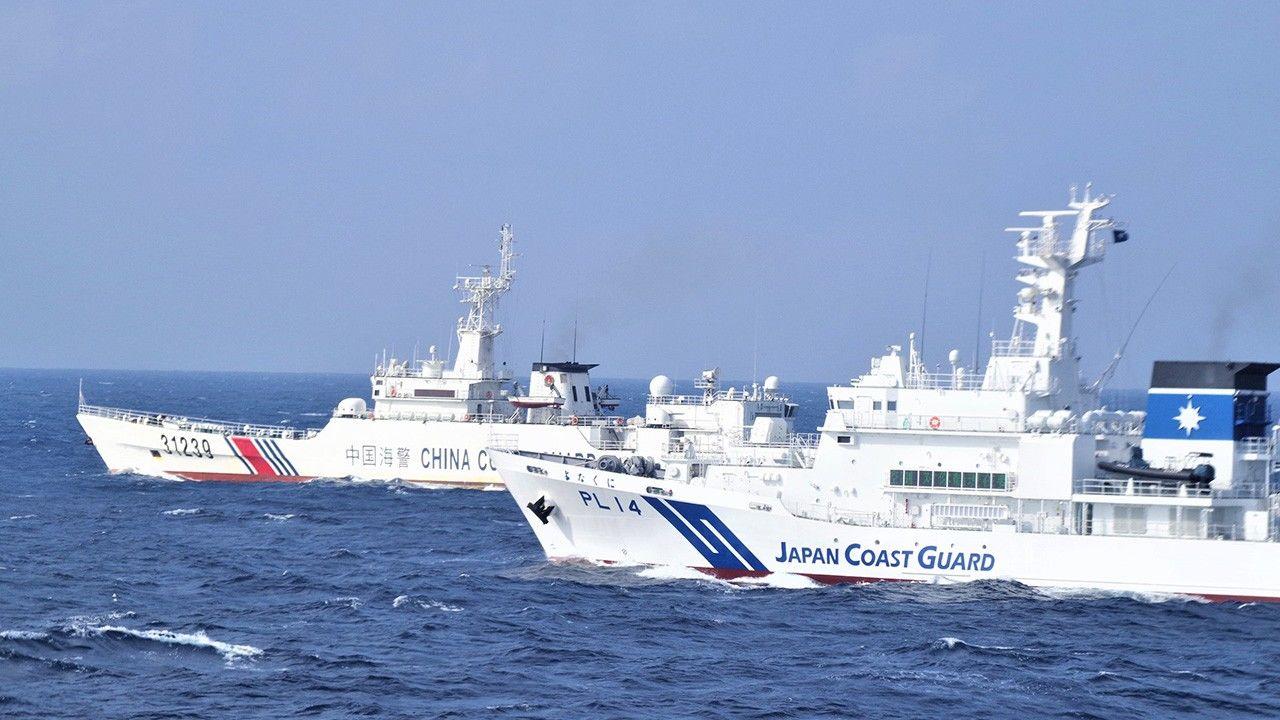 日本唱双簧,右翼挑衅钓鱼岛,海上保安厅掩护,中国海警以少胜多