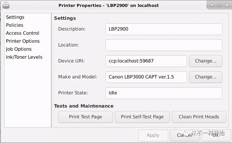 在Linux下安装打印驱动,以佳能LBP2900+为例